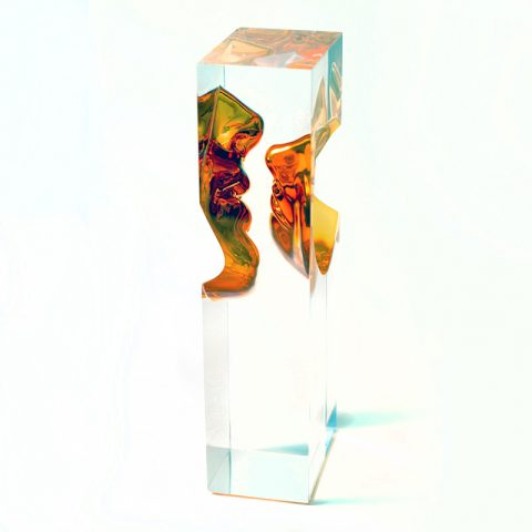 Escultura Beijo - Prelúdio de Amor - Âmbar