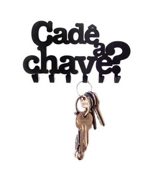 """porta chaves de metal """"Cadê a chave?"""