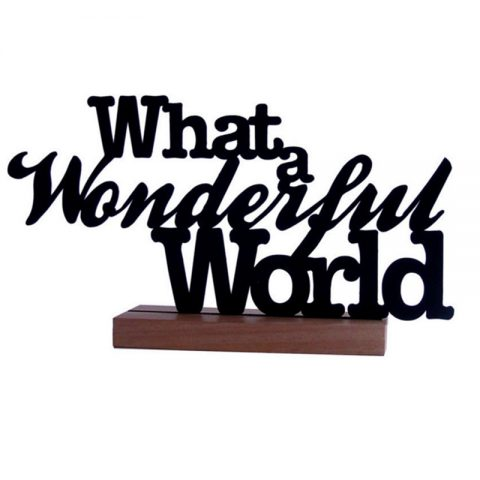 Frase What a Wonderful World