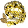 Colar para mesa em cerâmica Corumbau amarelo