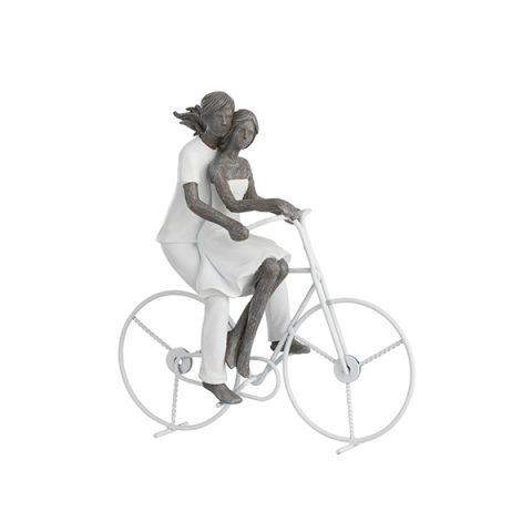 Escultura Casal na bike