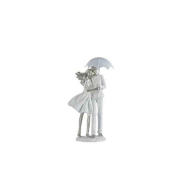 Escultura Casal na chuva
