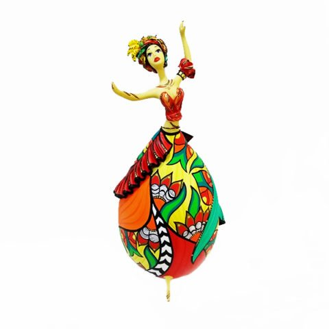 bailarina feita de cabaça Bapi Carmen Miranda Grande