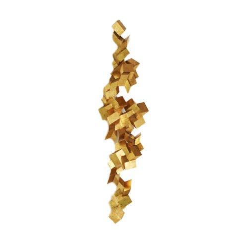 Escultura de parede Treliças Dourada